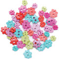 Favorite Findings Mini Shaped Buttons-Funky Flowers 49/pkg