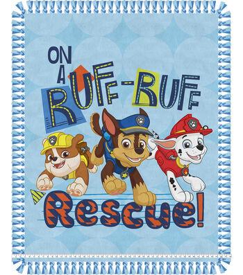 "No Sew Fleece Throw 48""-Paw Patrol Ruff Rescue Pups"