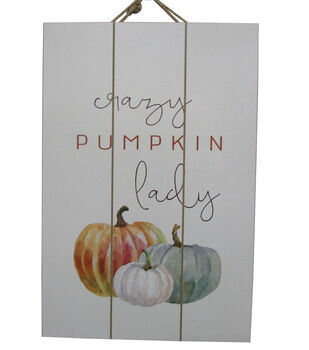 Simply Autumn Wall Decor-Crazy Pumpkin Lady