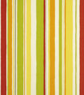 Robert Allen @ Home Outdoor Fabric 54\u0022-Baja Stripe Poppy