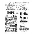 Viva Decor 7 pk Clear Stamps-Quotes