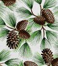 Keepsake Calico Holiday Cotton Fabric 44\u0022-Glitter Pine