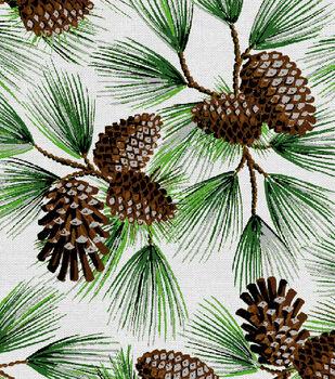 Holiday Cotton Fabric -Glitter Pine