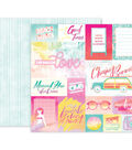 Pink Paislee Summer Lights Double-Sided Cardstock 12\u0022X12\u0022-#01