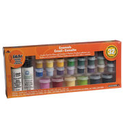 FolkArt 32 Color Enamel Paint Set, , hi-res