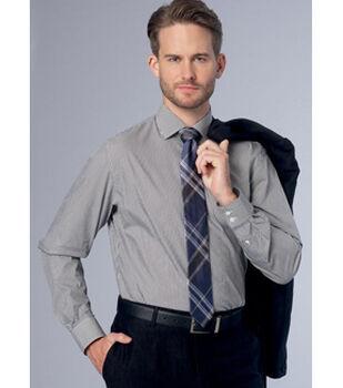 Vogue Pattern V9220 Men's Standard, Tailored/Slim Fit Shirts-Size 40-46