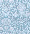 Snuggle Flannel Fabric -Aqua Damask Wildflowers