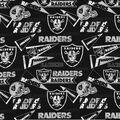 Oakland Raiders Cotton Fabric -Retro