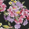 Premium Cotton Fabric-Large Floral on Black