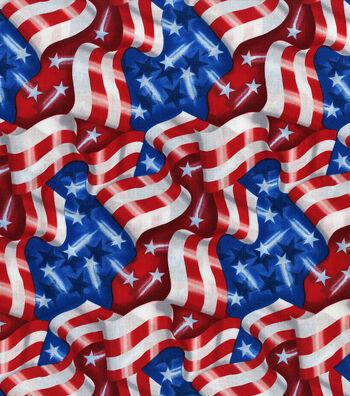 Patriotic Fabric 43''-Stars & Stripes