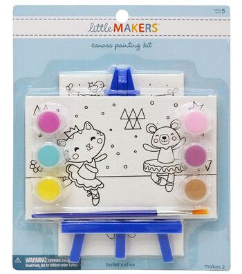 Little Makers 2Pk 4X6 Canvas Easel Kit-Ballet