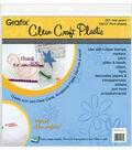 Grafix 12\u0022x12\u0022 .007 Plastic Sheets-4PK/Clear