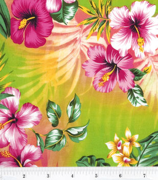 Tropical Shirting Fabric -Sorbet