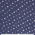 Wide Flannel Fabric-Navy White Star