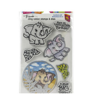 Stampendous Cling Stamp & Die Set Elephant