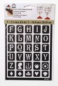 FolkArt 5.63\u0027\u0027x8.25\u0027\u0027 Peel & Stick Painting Stencils-Classic Alphabet