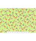 Snuggle Flannel Fabric 42\u0027\u0027-Hawaiian Flamingos