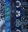 Jelly Roll Cotton Fabric Pack 2.5\u0027\u0027x42\u0027\u0027-Blue Glitter