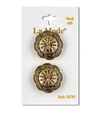 """La Mode 4026 Antique Gold 1"""" (25MM)"""