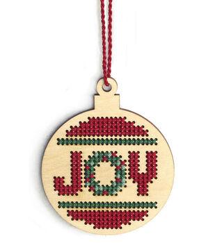 Dimensions Wood Ornament Stitch Kit-Joy