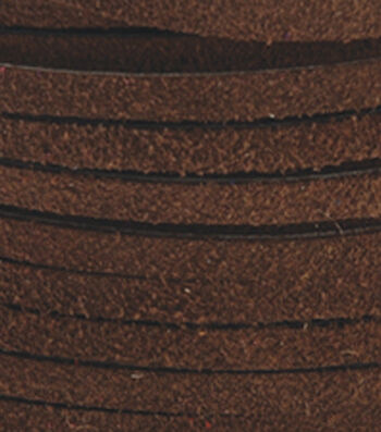 """Silver Creek Leather Co. Suede Lace 1/8""""x25 Yards-Dark Brown"""