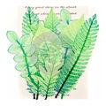 Prima Marketing Printed Fabric Leaf Embellishments 12/Pkg-Mountain Pine