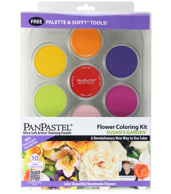 PanPastel Ultra Soft Artists' Painting Pastels Flower Coloring Kit