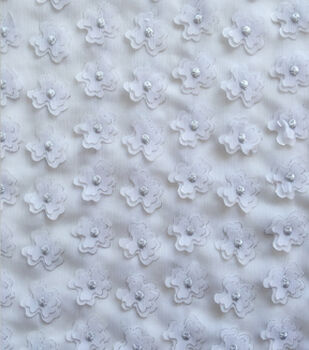Sew Sweet 3D Flowers with Foil Fabric 49''-White