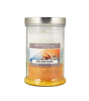 Hudson 43 Candle & Light Collection 18oz Triple Pour Sea And Sand Jar