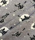 Halloween Cotton Interlock Fabric 57\u0022-Gray Witches
