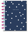 The Happy Planner Happy Notes Classic Notebook-Navy & Dots