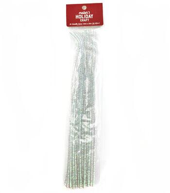Maker's Holiday Craft 25 pk 6 mmx12'' Chenille Stems-Iridescent