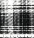 Fleece Fabric-Black & White Mica Plaid