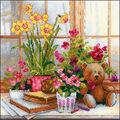 RIOLIS Counted Cross Stitch Kit-Daffodils on the Windowsill