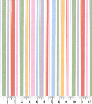 Easter Cotton Fabric-Pastel Stripe