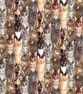 Novelty Cotton Fabric -Photoreal Multi Cats