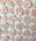 Gianna 3D Lattice Pearl Floral Fabric 51\u0027\u0027