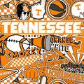 University of Tennessee Volunteers Cotton Fabric-Pop Art