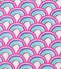 Anti-Pill Fleece Fabric 59\u0022-Girly Rainbows