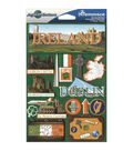 Jet Setters International Dimensional Stickers 4.5\u0022X6.75\u0022-Ireland