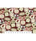 Christmas Cotton Fabric 43\u0022-Christmas Greetings Stamps
