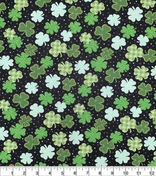 St. Patrick's Day Cotton Fabric-Patterned Shamrocks