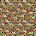 Premium Quilt Cotton Fabric-Packed Fans Metallic