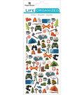Paper House Life Organized Micro Stickers 7\u0022X3\u0022-Outdoors
