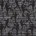Novelty Cotton Fabric-Baseball Silhouete