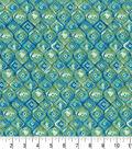 Premium Cotton Fabric -Morocan Tile Teal
