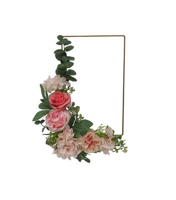 Fresh Picked Spring 20'' Peony Rectangle Wreath