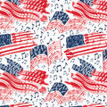 Patriotic Cotton Fabric-Patriotic Music Notes Glitter