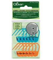 Clover Jumbo Locking Stitch Markers, , hi-res