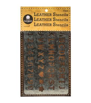 Walnut Hallow Metal Leather Stencil